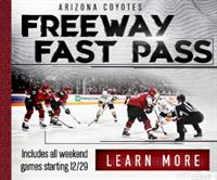 "COYOTES LAUNCH NEW ""FREEWAY FAST PASS"" TICKET PLAN"