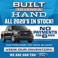San Tan Ford offering all 2020 models include NO PAYMENTS for SIX MONTHS!*