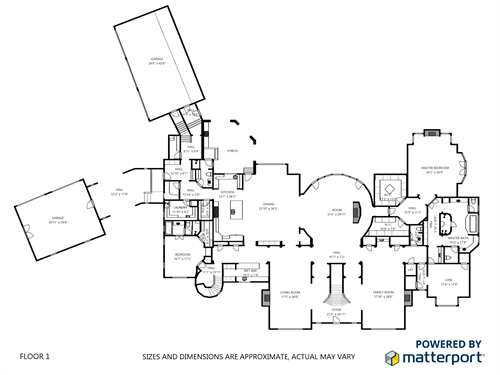 Floor plans included with every Matterport service.