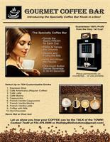 Gourmet Coffee Bar Flyer