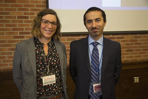 Immigrant and Refugee Rights Summit 2017 keynote speaker Agshin Jafarov with Executive Director/Managing Attorney Sarah Yore-Van Oosterhout