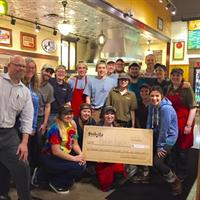 The crew raised $2,350 for Mika's Lunch at our Oven Warming Party. Great job, guys!