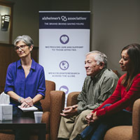 The Alzheimer's Association provides support groups and education programs throughout our territory.