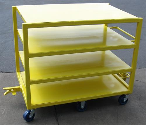 Four shelf tuggable cart