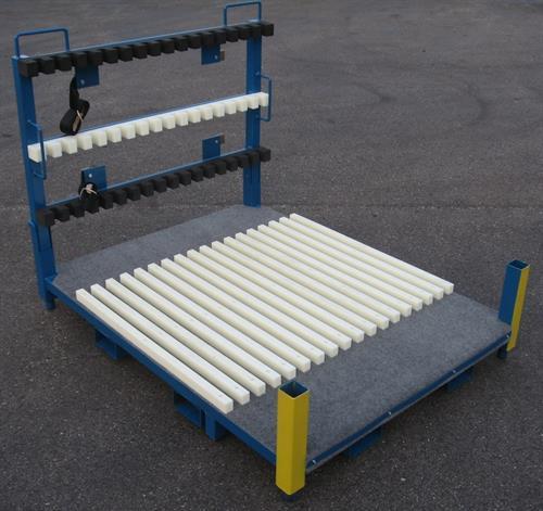 Finished goods laminate surface shipping rack