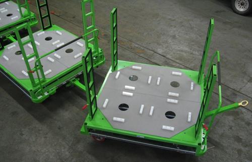 Train series spare tire cart