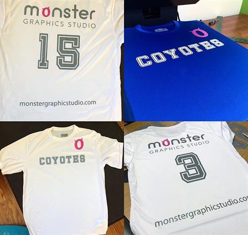 Sponsored & heat pressed a local soccer team