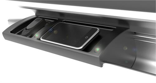 Wireless Charging station for automotive use.  Designed for Amway Corp