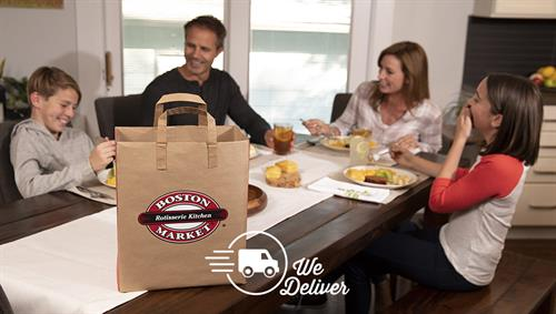 We'll deliver lunch or dinner to your home or business!