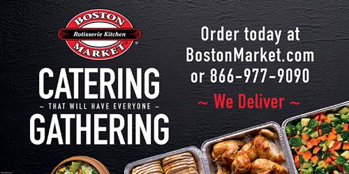 You gather, we cater. We serve groups from 5 to 5,000 and offer same-day orders and delivery.