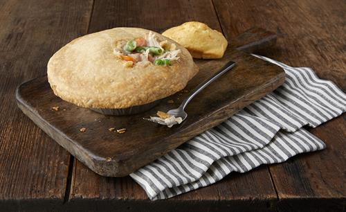 All natural, rotisserie chicken mixed with vegetables and a touch of cream, baked in a crisp and flaky crust.