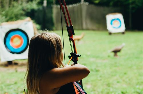 Our guest groups, summer campers, adventure ministry and family campers have access to our Target Sports area. There they can participate in Archery, Tomahawks, Sling Shots and Rifle Shooting.