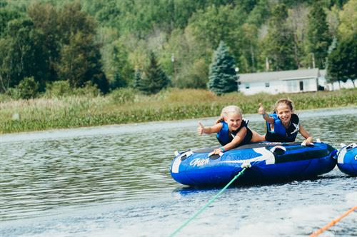 CranHill sits on 123-acre all sports Hillview Lake, allowing us to provide fun activities like swimming, boating, tubing and canoeing!