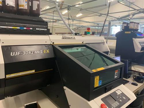 One of 2 Mimaki UV Printers