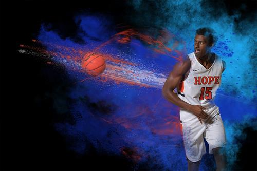 Concept art for Hope College Basketball