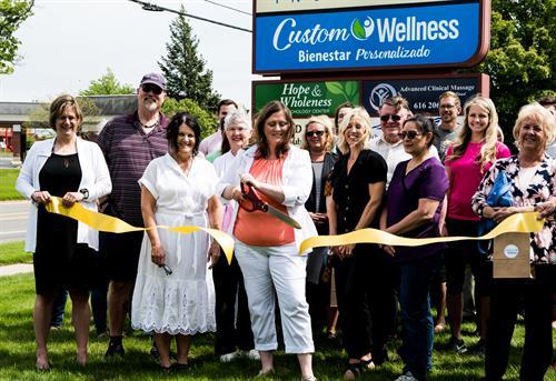 Custom Wellness Ribbon Cutting