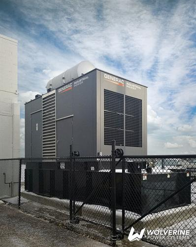 Diesel Generac Industrial generator for a manufacturing facility
