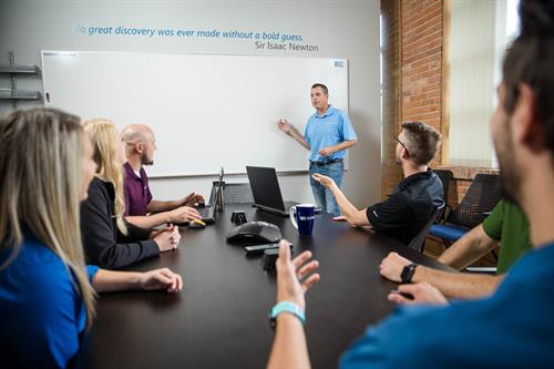 DISHER facilitates a variety of problem-solving sessions such as Whiteboard Wednesdays, Whiteboard Extremes, and Innovation Workshops