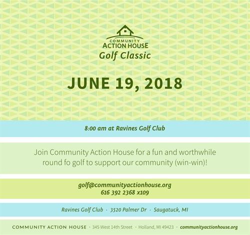 Community Action House Annual Golf Outing STD