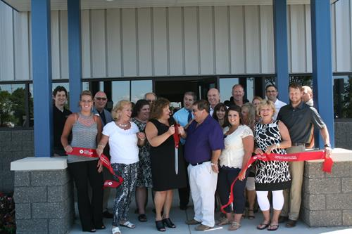 2015 Ribbon Cutting at Teddy's Transport's new terminal.
