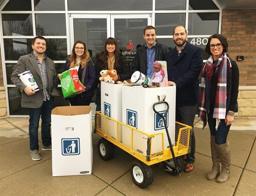 Heading to Ronald McDonald House of Western Michigan to deliver gifts for the holidays!