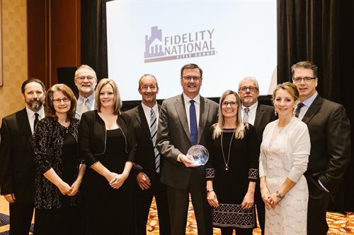 """Lighthouse Group's Title Department presented with the Fidelity National """"Circle of Excellence"""" Award for the 4th year in a row!"""