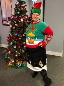 2019 Ugly sweater 1st place winner!