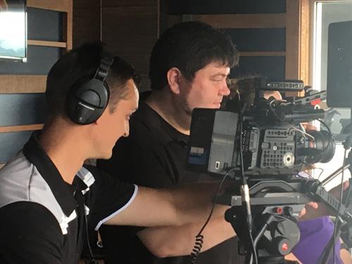 Brennan and Brad producing Grant Me Hope videos