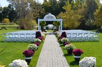 Fall garden gazebo ceremony site.