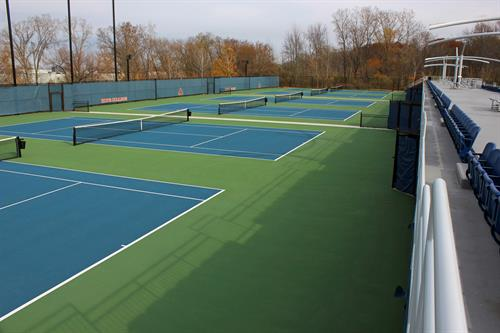 Completed tennis courts at Hope College in which D&A provided site design services.