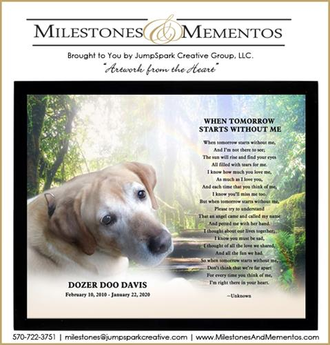 New Service Offering: Milestones and Mementos Custom Artwork & Gifts