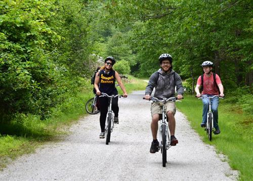 Rail/Trail Biking along the Lehigh River