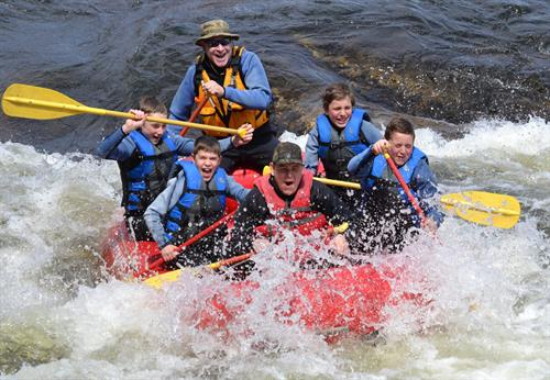 Boy Scout and Girl Scout Rafting Programs available.
