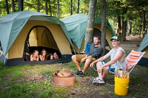 Tent camping at Whitewater Challengers Adventure Center