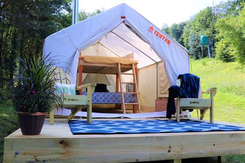 Glamping now at Blue Mountain Resort