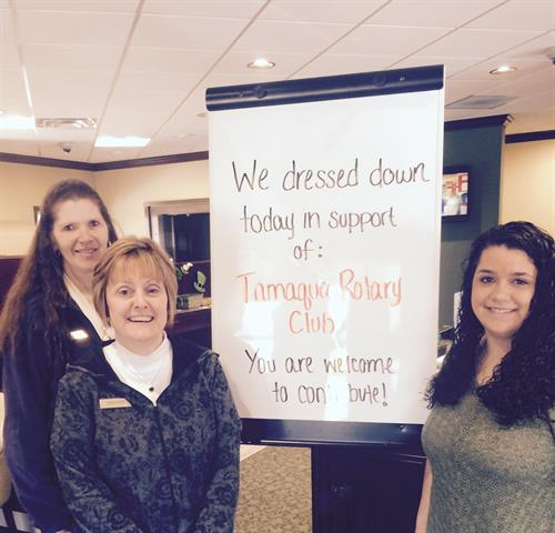Dress down day to support Tamaqua Rotary Club!