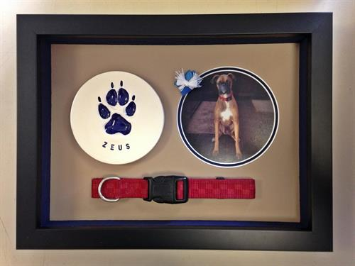Pets are family too.  Framed memory.