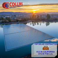 COLLINS ELECTRICAL COMPANY, INC. RECOGNIZED AS TOP U.S. SOLAR INSTALLATION COMPANY