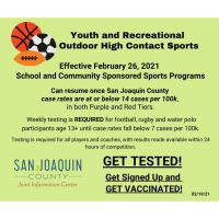 Outdoor and Indoor Youth and Recreational Adult Sports