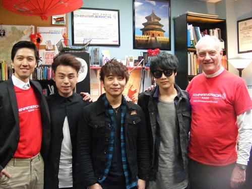 "Steve & Ethan in studio with Taiwan pop band ""IO"""