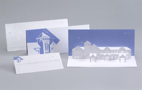 Invitation designed for the opening of the Martha's Vineyard Hospital