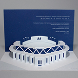 Invitation designed for an event at Yankee Stadium