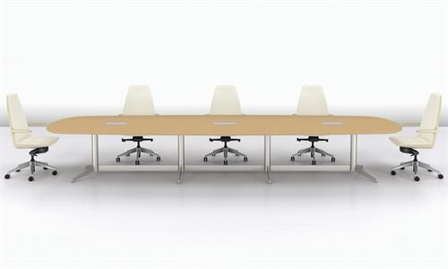 MP Conference Table, Clamshell Chairs