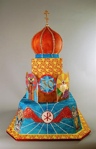 Huascar & Co. Bakeshop Cake for Priest's Anniversary