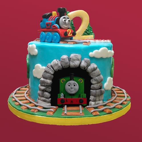 Huascar & Co. Bakeshop Thomas Engine Birthday Cake