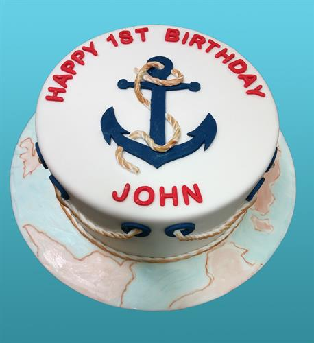 Huascar & Co. Bakeshop Nautical Theme Birthday Cake