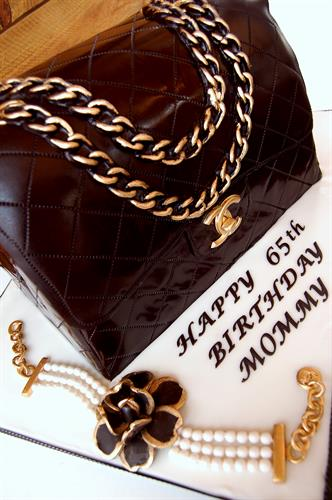 Huascar & Co. Bakeshop Chanel Bag Sculpted Cake