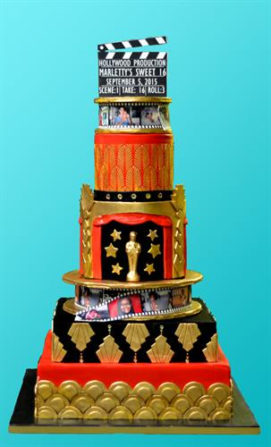 Huascar & Co. Bakeshop Hollywood Theme Sweet 16 Birthday Cake