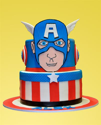 Huascar & Co. Bakeshop Custom Cake Captain America