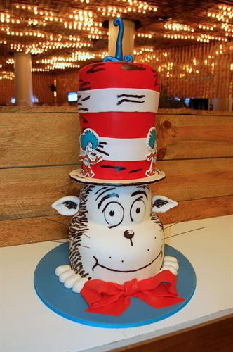 Huascar & Co. Bakeshop Cat in the Hat Birthday Cake